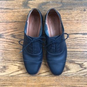 Madewell Navy Clare Leather Oxfords 8